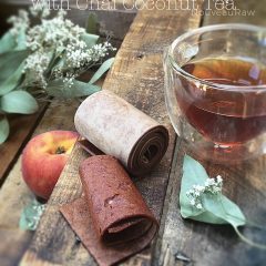 Peach-Fruit-Leather-infused-with-Chai-Coconut-Tea-featured