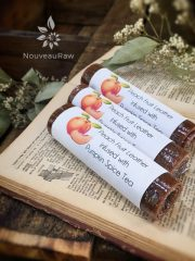 Peach Fruit Leather infused with Pumpkin Spice Tea (raw, vegan, gluten-free, nut-free)
