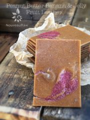 Peanut Butter Banana & Jelly Fruit Leather (raw, gluten-free)