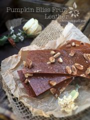 Pumpkin Bliss Fruit Leather (raw, gluten-free)