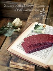 Sassy Raspberry Banana Fruit Leather (raw, vegan, gluten-free, nut-free)