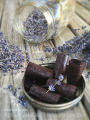 Spiced Vanilla Blueberry Fruit Leather (raw, vegan, gluten-free, nut-free)