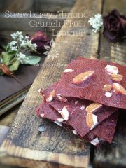 Strawberry Almond Crunch Fruit Leather (raw, vegan, gluten-free)
