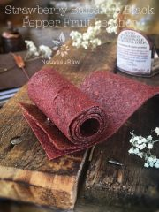 Strawberry Balsamic Black Pepper Fruit Leather(raw, vegan, gluten-free, nut-free)