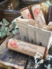 Sweet Peach Fruit Leather (raw, vegan, gluten-free, nut-free)