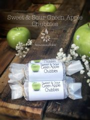 Sweet and Sour Green Apple Chubbies Fruit Leather (raw, vegan, gluten-free, nut-free)
