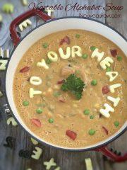 Vegetable Alphabet Soup  (raw, vegan, gluten-free, nut-free)