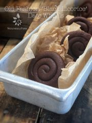 "Old Fashion ""Black Licorice"" Date Wheels (raw, vegan, gluten-free, nut-free)"