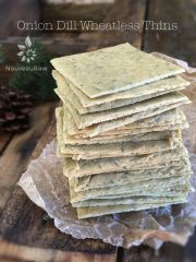 Onion Dill Wheatless Thins (raw, vegan, gluten-free)