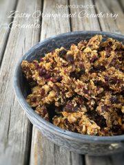 Zesty Orange and Cranberry Granola (raw, vegan, gluten-free)