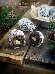 Chocolate Covered Almond Stuffed Dates (raw, vegan, gluten-free)