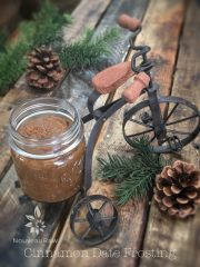 Cinnamon Date Frosting (raw, vegan, gluten-free, nut-free)