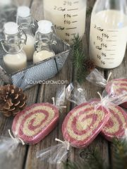 "Peppermint Christmas Pinwheel ""Sugar"" Cookies (raw, vegan, gluten-free)"