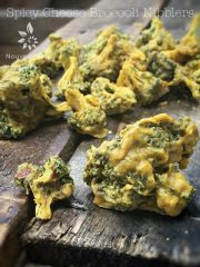 Spicy Cheese Broccoli Nibblers (raw, vegan, gluten-free)