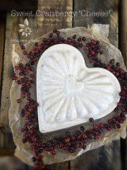 "Sweet Cranberry ""Cheese"" (high-raw, vegan, gluten-free)"