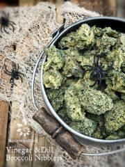 """Ear Wax"" Vinegar and Dill Broccoli Nibblers (raw, vegan, gluten-free)"