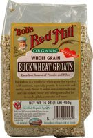 Organic Whole Grain Buckwheat Groats, Gluten Free, 16 oz (1 lb) 453 g
