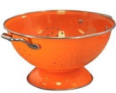Calypso Basics 3 Quart powder coated  Colander, Orange