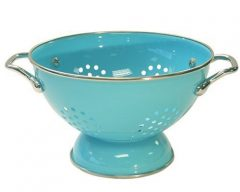 Calypso Basics 1.5 Quart powder coated  Colander, Turquoise