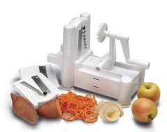 Paderno World Cuisine A4982799 Tri-Blade Plastic Spiral Vegetable