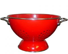 Calypso Basics 5 Quart powder coated  Colander, Red