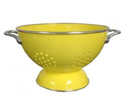 Calypso Basics 5 Quart powder coated  Colander, Lemon
