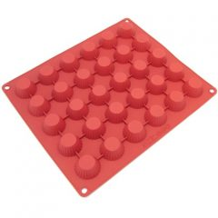 Freshware 30-Cavity Silicone Chocolate, Candy and Peanut Butter-Cup Mold