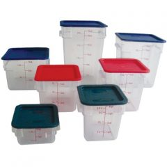 Clear Food Storage Square Polycarbonate Container with Lid Included * Commercial Grade *