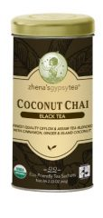 Zhena's Gypsy Tea, Coconut Chai, 22-Count Tea Sachets (Pack of 6)