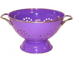 Calypso Basics 5 Quart powder coated  Colander, Purple