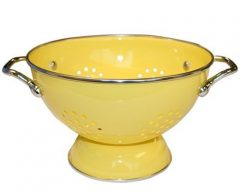 Calypso Basics 1.5 Quart powder coated  Colander, Lemon