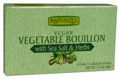 Rapunzel Pure Organic Vegetable Bouillon with Sea Salt & Herbs, 8 Cubes, 3.1-Ounce Packages (Pack of 6)