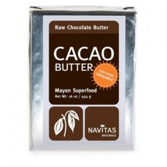 Navitas Naturals Cacao Butter, 16-Ounce Pouches