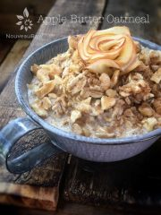 Apple Butter Oatmeal (raw, vegan, gluten-free)
