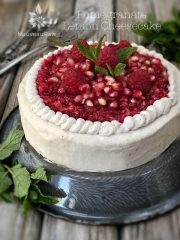 Pomegranate Lemon Cheesecake (raw, vegan, gluten-free)