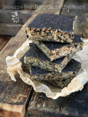 Sesame Sunflour Nori Crackers (raw, vegan, gluten-free, nut-free)