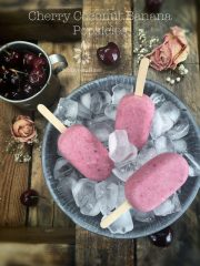 Cherry Coconut Banana Popsicles  (raw, vegan, gluten-free, nut-free)