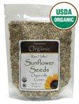 Raw Hulled Sunflower Seeds, Organic 16 oz (454 grams) Pkg