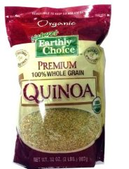 Nature's Earthly Choice Organic Premium 100% Quinoa Whole Grain 32 Oz – Resealable Bag