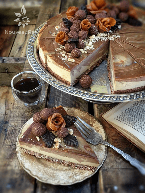 Deluxe-Apricot-and-Chocolate-Swirl-Cheesecake-1