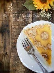 Pineapple Upside-Down Cream Tart  (raw, gluten-free)