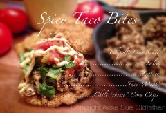 Spicy Taco Bites and Taco Bar (raw, vegan, gluten-free)