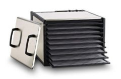 Excalibur Food Dehydrator – 9 Tray Stainless Steel Electric Dryer – DS900S – Includes BPA Free Plastic Trays