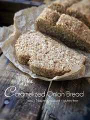 Caramelized Onion Bread  (raw, vegan, gluten-free)