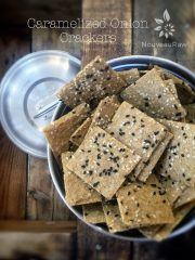 Caramelized Onion Crackers (raw, vegan, gluten-free, nut-free)