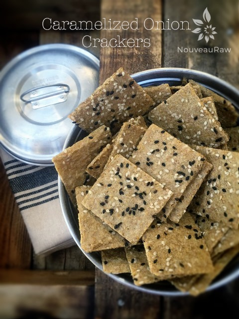 Gluten Free Caramelized Onion Crackers