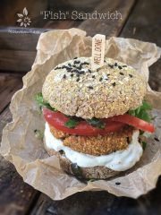 Fish Sandwiches (raw, vegan, gluten-free)