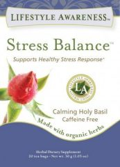 STRESS BALANCE LA TEAS ORGANIC HERBAL TEA BLEND LIFESTYLE AWARENESS