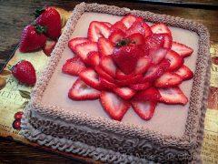 Hazelnut Cardamom and Strawberry Layered Cake  (raw, gluten-free)