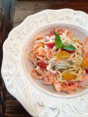 Herbes de Provence Alfredo Sauce and Garden Vegetables (raw, vegan, gluten-free)
